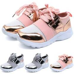 Kids Boys Girls Sports Athletic Running Trainers School Gym Sneakers Shoes Size $18.99