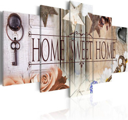 AWLXPHY Decor Home Sweet Home Canvas Wall Art Print Painting 5 Panels Framed for $56.99