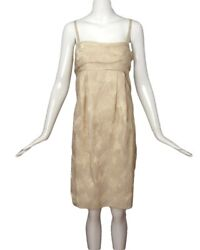 MOSCHINO CHEAP amp; CHIC Gold Metallic Baby Doll Dress Size 10 $40.00