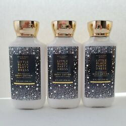 3 Pack Bath and Body Works LITTLE BLACK PARTY DRESS Body Lotion 8 oz Each $36.99