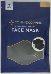 New Tommie Copper Face Mask Unisex 2 Pk Copper amp; Zinc Infused OS 7289 $14.99