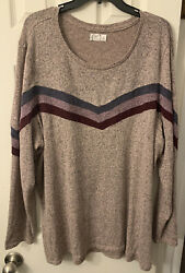 Cute For Fall 🍁Maurices Plus Size 24 7 Sweater Size 3 3X Super Soft $18.99