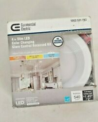 Commercial Electric Slim 4 in. Color Selectable Canless LED Recessed Kit 997