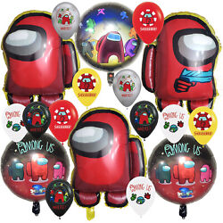 AMONG US ALIEN BALLOONS Birthday Party Decoration GAME BANNER SUPPLIES THEME $16.99