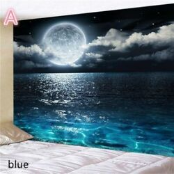 USA Sea Moon Night Tapestry Wall Hanging Tapestries Bedroom Blankets Room Decor $20.89