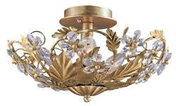 Crystorama Paris Market 6 Light Gold Semi Flush $293.00