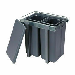 Pull Out Kitchen Bin Under Sink Dual Bins Cupboard Rubbish Waste Recycling F2 AU $76.50