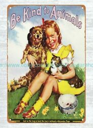 wall to wall art 1915 American Humane Be Kind to Animals Week metal tin sign $15.95