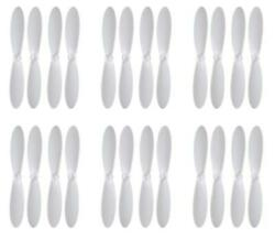 Blue Mini Drone White Propeller Blades Props Propellers Blade Rotor 6 Pack $6.95
