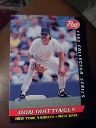 DON MATTINGLY 1993 POST CEREAL #12 OF 30 FREE SHIPPING $0.99
