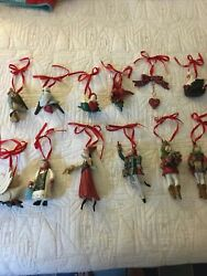 Complete Set of 12 House Of Hatten 12 Days of Christmas Ornaments Twelve 1989 $499.99
