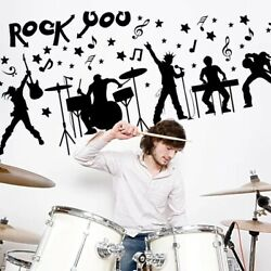 For boys kids room Removable Vinyl Wall Decor Band room Sticker wall Home Decor $9.99