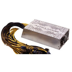 Antminer PSU Alpha Miner 2400W 180 280V 10x6 pin better than BITMAIN APW3 APW7 $169.00