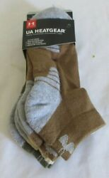 Under Armour 3 Pair Heatgear Low Cut Men Socks Size 4 8 $12.99