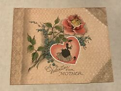 Vintage Valentines For Mother Greeting Card B4 $2.95