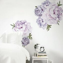 Purple Wall Stickers Flowers Deco Vinyl Art Room Removable Decal DIY Mural Home $18.41