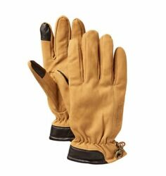 Timberland Men#x27;s Leather Touchscreen Gloves Brown Wheat Save 30% MSRP $24.99