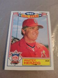 WHITEY HERZOG 1984 TOPPS 1983 ALL STAR GAME #12 OF 22 FREE SHIPPING $0.99