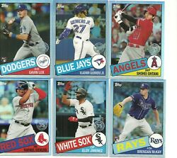 2020 TOPPS CHROME BASEBALL 1985 INSERT 12 of 25 CARD PARTIAL SET NO DUPES $6.00