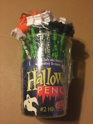 Vintage Bundle of 30 Novelty Halloween Pencils With Toppers. U.S.A. NOS Sealed $24.41