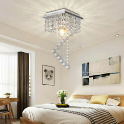 Crystal Chandelier Pendeant Ceiling Lamp LED Modern Light Home Decor 1 Light E12 $34.99