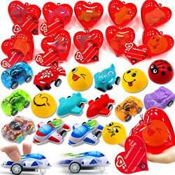 AMENON 28 Pack Kids Valentines Toys Cars Party Favors 28 Different Pull Back Car $26.99
