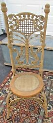 Antique Antique Reed Wicker Reception Chair c.1890 $250.00