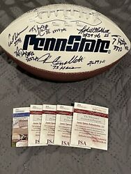 Penn State Autographed Football Barkley Cappelletti Royster and more $550.00