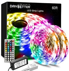 Daybetter Led Lights Color Changing Led Strip Lights with Remote Controller