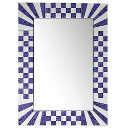 DecorShore Purple Decorative Wall Mirrors With Colorful Glass Mosaic Tiles $99.99
