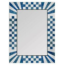 DecorShore Blue Decorative Wall Mirrors With Colorful Glass Mosaic Tiles $99.99