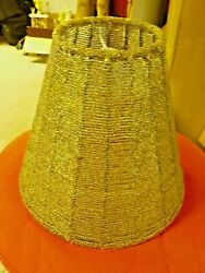 Vintage Glass Beaded Silver Lamp Shade $9.99