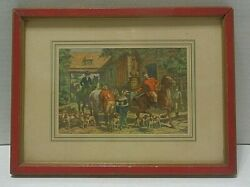 WILLIAM MARK YOUNG G P 1878 Litho In U.S.A. Offset Mounted Hunt Scene Mat #6 $198.00