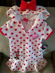 DISNEY MINNIE MOUSE HOODED BEACH POOL COVERUP Size 18 Months $4.99