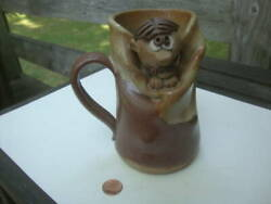 Vintage Stoneware Figural Mug Funny Face Man Tucked within the Stein Novelty $23.50