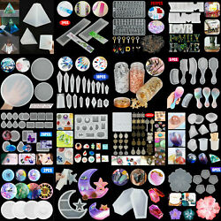 DIY Silicone Resin Casting Mold Keychain Jewelry Pendant Epoxy Craft Mould Tool $6.98