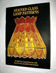 Stained Glass Lamp Patterns by Luciano Miller 1979 10 Full Size w Instructions $18.98