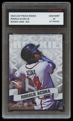 RONALD ACUNA JR. 2018 LEAF PRIZED 1ST GRADED 10 ROOKIE CARD RC ATLANTA BRAVES $27.49