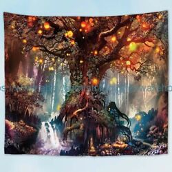 wall beach towel tree wantasy forest landscape nature wall tapestry $19.99