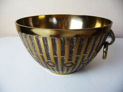 Vintage Solid Heavy Decorative BRASS BOWL 6.5 diam x 4quot; tall $24.00