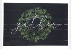 """Rustic Country Farmhouse """"Gather"""" Wreath Pallet Wood Wall Decor $89.99"""