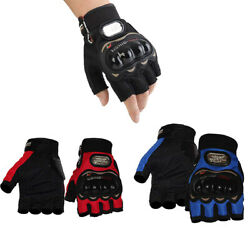 Unisex Motorcycle Gloves Cycling Outdoor Bicycle Riding Gel Half Finger Gloves $8.99