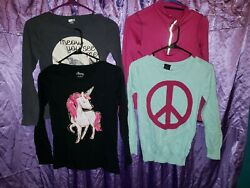 Girls Long Sleeve Shirts Size 10 12 Lot Of Four. $9.99