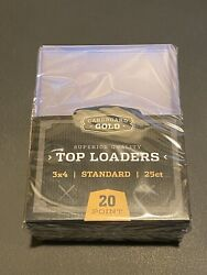 100 Top loaders 3X4 For Standard Size Sports amp; Gaming Cards Cardboard Gold $35.00