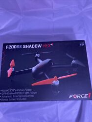 Force1 GPS Drones with Camera F200SE Shadow Hex 1080p HD WiFi Camera Drone $129.98