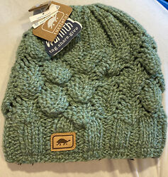 Turtle Fur LambsWool * LUCY Hand Knit Winter Hat Turtlefur #326 Grass Green *NEW $19.98