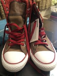 Converse All Star Womens Elsie Hi Top Roll Down 540295C Leather Sneakers US 8 $42.99