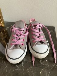 Converse All Star Kids Youth size 13 Kids Gray and pink VGUC $18.00