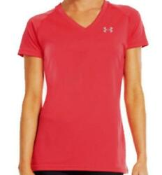 Under Armour UA Womens S Tech S S Top Tee Neon Pink 1228321 FAST SHIP C3 $14.89