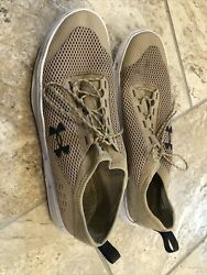 Mens 13 Under Armour Kilchis Water Shoes Khaki Mesh Sneakers Lightweight $18.00